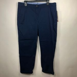 Talbots The Weekend Chino Size 12 Navy Blue Pants